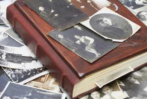 Old Photos on top of Photo Album 1000px